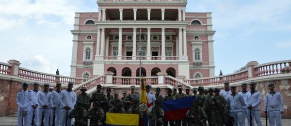 Consulado en Manaos acompañó la celebración de la Independencia de Brasil y la participación de la marina colombiana en los actos protocolarios de la festividad