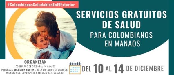 Del 10 al 14 de diciembre se realizará la Jornada de Salud para Colombianos