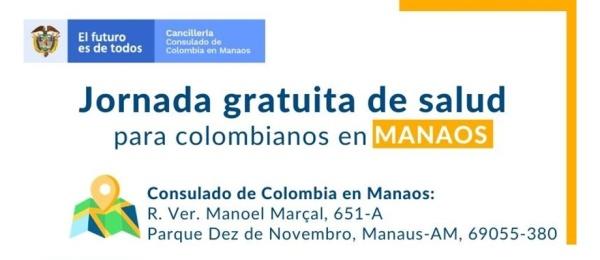 El Consulado de Colombia en Manaos invita a la Jornada gratuita de salud