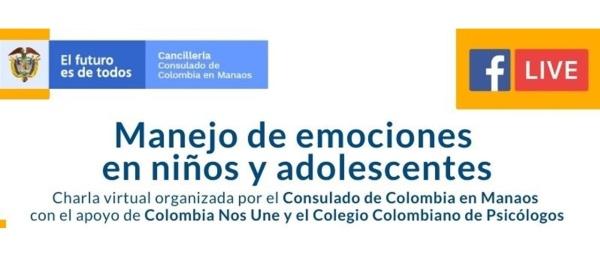 El Consulado en Manaos hará una charla virtual sobre el manejo de emociones con niños y adolescentes este viernes
